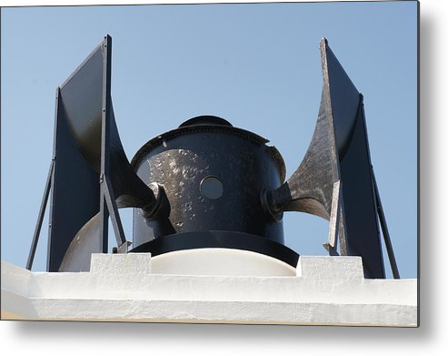 Foghorn Metal Print featuring the photograph Foghorn. by Elena Perelman