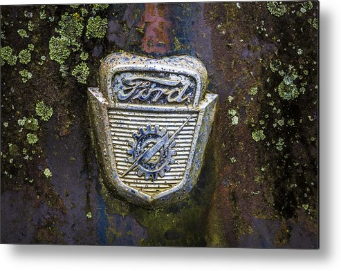 Appalachia Metal Print featuring the photograph Ford Emblem by Debra and Dave Vanderlaan
