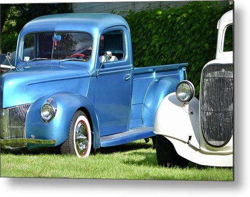 Metal Print featuring the photograph Ford Pickups by Dean Ferreira
