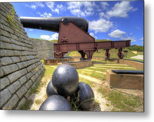 Fort Metal Print featuring the photograph Fort Moultrie Cannon Balls by Dustin K Ryan