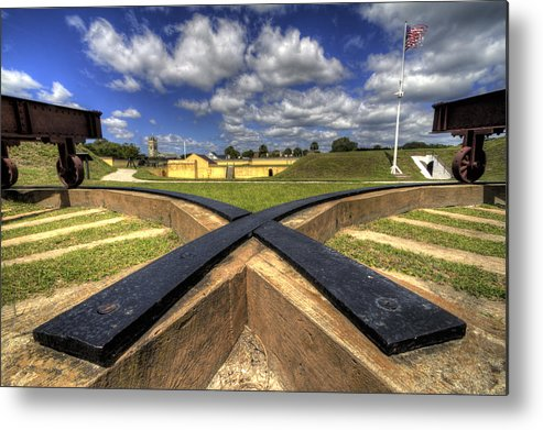 Fort Metal Print featuring the photograph Fort Moultrie Cannon Tracks by Dustin K Ryan