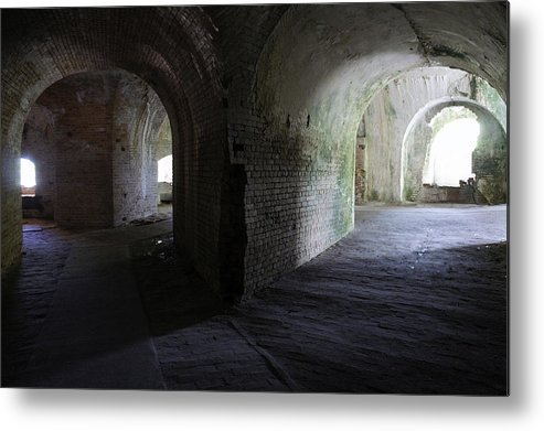 Fort Metal Print featuring the photograph Fort Pickens Corridor 2 by Laurie Perry
