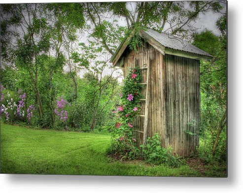 Outhouse Metal Print featuring the photograph Fragrant Outhouse by Lori Deiter