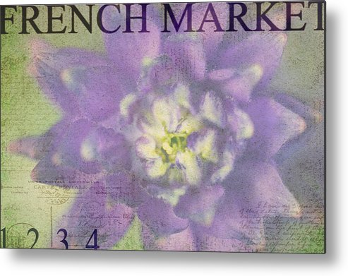 Purple Metal Print featuring the photograph French Market Series H by Rebecca Cozart