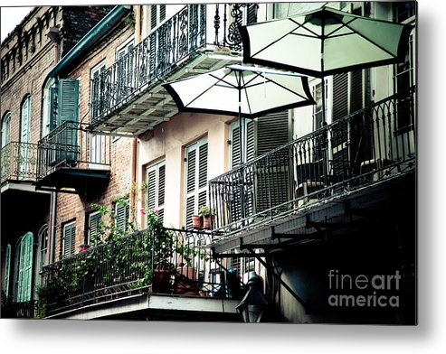 Architecture Metal Print featuring the photograph French Quarter Charm II by Irene Abdou