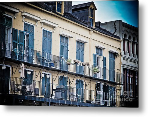 Architecture Metal Print featuring the photograph French Quarter Charm by Irene Abdou