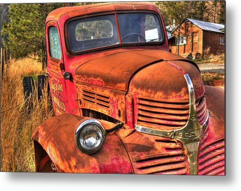 Truck Metal Print featuring the photograph Funky Ride by Peter Olsen
