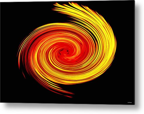 Abstract Metal Print featuring the photograph Galaxy by Johann Todesengel