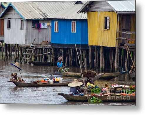 Benin Metal Print featuring the photograph Ganvie's Floating Market by Irene Abdou
