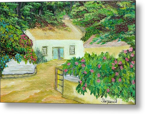 Garden Metal Print featuring the painting Garden by Cary Singewald