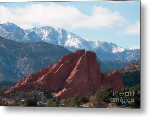 Color Landscape Photography Metal Print featuring the photograph Garden Of The Gods Iv by David Waldrop