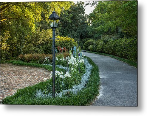 Garden Metal Print featuring the photograph Garden Path #1 by Larry Palmer