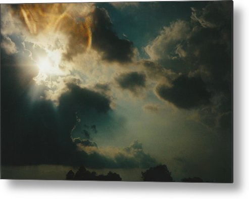 Landscape Metal Print featuring the photograph Gary Indiana Storm On The Rise by Gene Linder