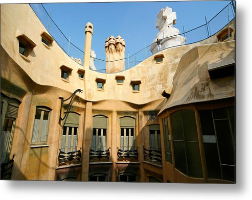 Pedrera Metal Print featuring the photograph Gaudi La Pedrera Barcelona Spain by Mathew Lodge
