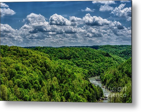 Springl Metal Print featuring the photograph Gauley River Canyon And Clouds by Thomas R Fletcher