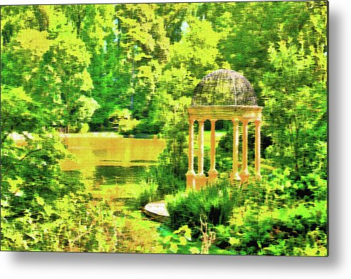 Foliage Metal Print featuring the photograph Gazebo By The Lake by Lou Ford