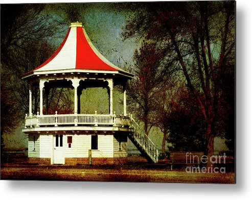 Gazeebo Metal Print featuring the photograph Gazeebo by Joel Witmeyer