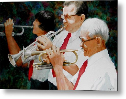 Music Metal Print featuring the painting Generations by Faye Ziegler