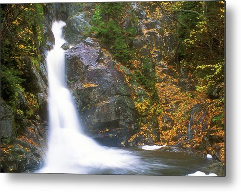 New Hampshire Metal Print featuring the photograph Gibbs Falls Presidential Range by John Burk