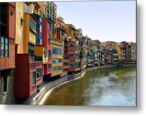Girona Metal Print featuring the photograph Girona Riverfront by Mathew Lodge
