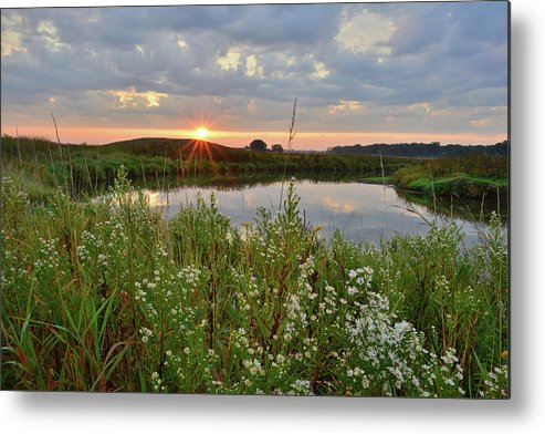 Glacial Park Metal Print featuring the photograph Glacial Park Sunrise On The Nippersink by Ray Mathis