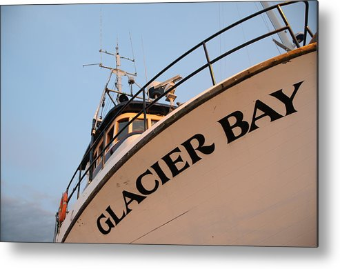 Fishing Metal Print featuring the photograph Glacier Bay by Alasdair Turner