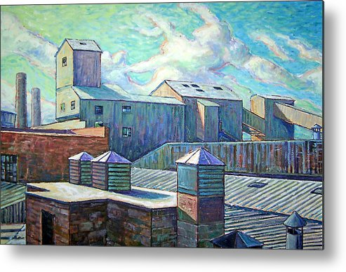 Cityscape Metal Print featuring the painting Gladding Mcbean by Gary Symington