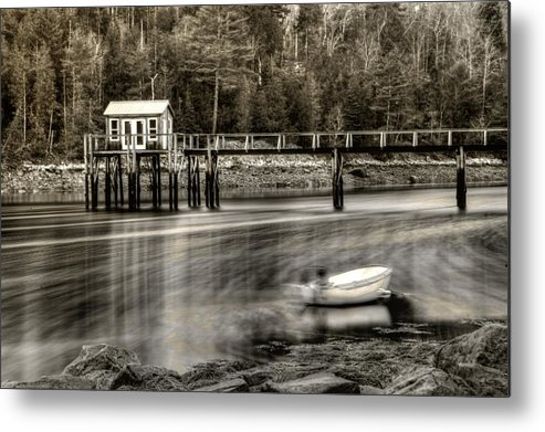 Water Metal Print featuring the photograph Going With The Flow by Greg DeBeck