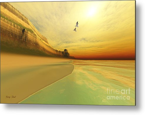 Seagull Metal Print featuring the painting Gold Coast by Corey Ford
