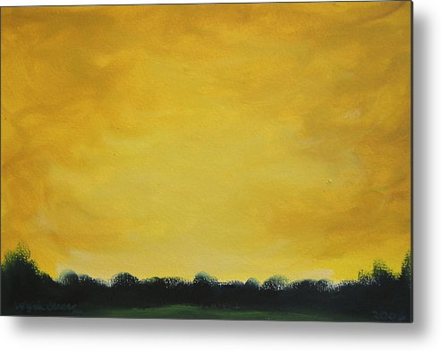 Abstract Metal Print featuring the painting Golden Skyline by Wynn Creasy