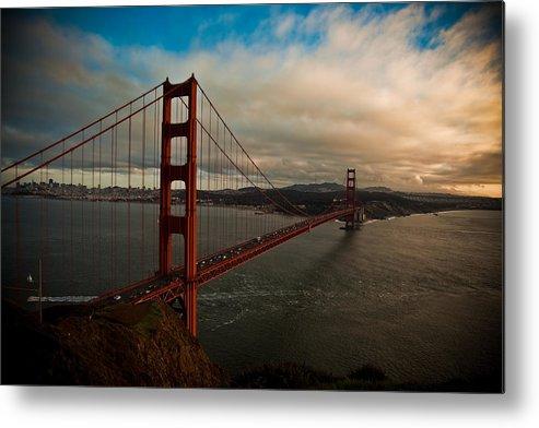 Golden Gate Bridge Metal Print featuring the photograph Golden Sunset by Patrick Flynn