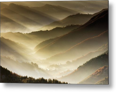 Bulgaria Metal Print featuring the photograph Golden Valley by Evgeni Dinev