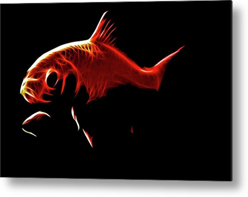 Goldfish Metal Print featuring the digital art Goldfish 1 by Tilly Williams
