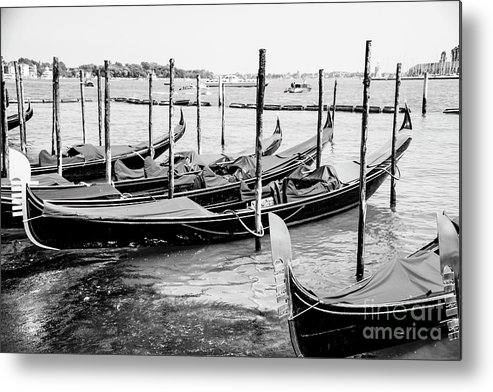 Italy Metal Print featuring the photograph Gondolas By St Mark's by Christopher Maxum