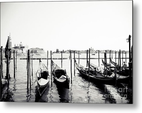 Venice Metal Print featuring the photograph Gondolas Of Venice by Christopher Maxum