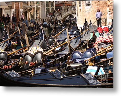 Venice Metal Print featuring the photograph Gondolas Parked In Venice II by Michael Henderson