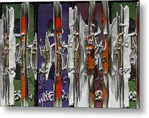 Graf Metal Print featuring the mixed media Graffitis Sculpture by Martine Affre Eisenlohr