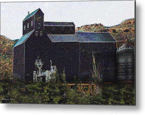 Grain Metal Print featuring the photograph Grain Elevator   by Gerry Tetz