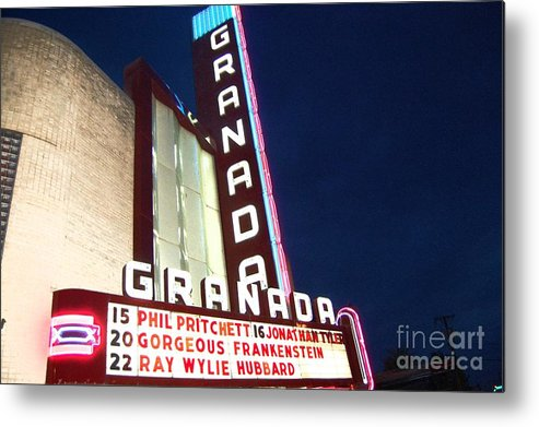 Music Metal Print featuring the photograph Granada Theater by Debbi Granruth