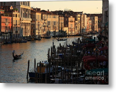 Venice Metal Print featuring the photograph Grand Canal In Venice From The Rialto Bridge by Michael Henderson