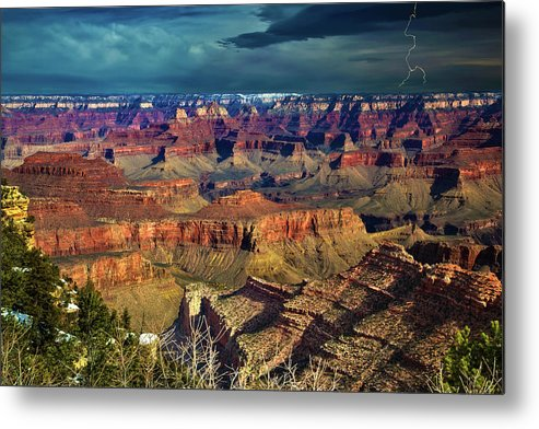 Grand Canyon Metal Print featuring the photograph Grand Canyon Storm by Richard Cronberg