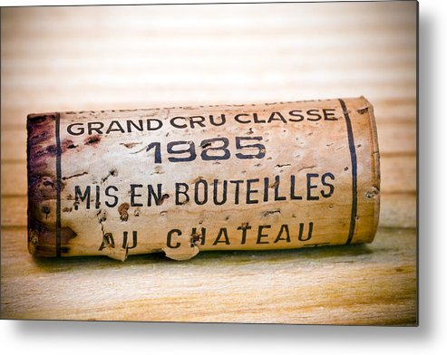 Grand Cru Classe Metal Print featuring the photograph Grand Cru Classe Bordeaux Wine Cork by Frank Tschakert