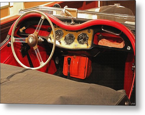 Auto Metal Print featuring the photograph Grandpa's Garage by Vincent White
