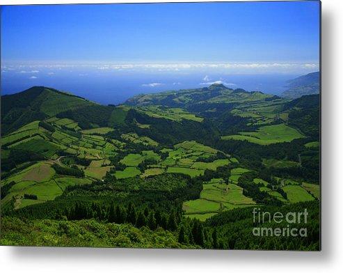 Landscape Metal Print featuring the photograph Green Hills by Gaspar Avila