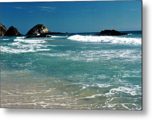 Pacific Metal Print featuring the photograph Green Waters Of The Pacific 2 by Lyle Crump