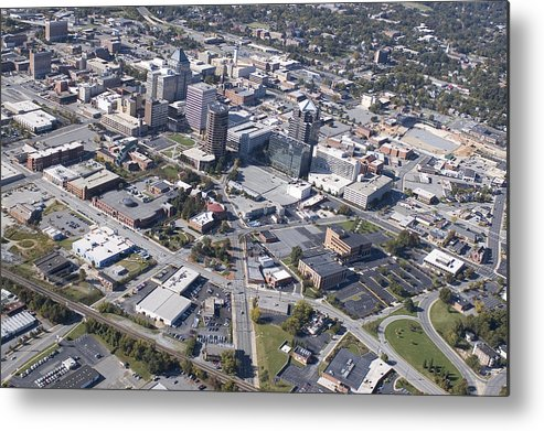 Greensboro Metal Print featuring the photograph Greensboro Aerial by Robert Ponzoni
