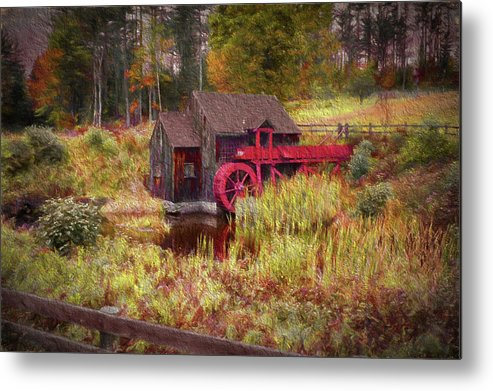 #jefffolger Metal Print featuring the photograph Guildhall Grist Mill In Fall by Jeff Folger