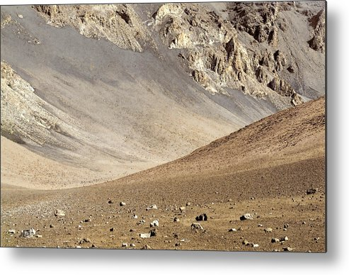Crater Metal Print featuring the painting Haleakala Crater Floor by Peter J Sucy