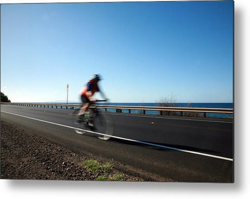 Acceleration Metal Print featuring the photograph Haleakala Highway Bike Ride by Michael Ledray