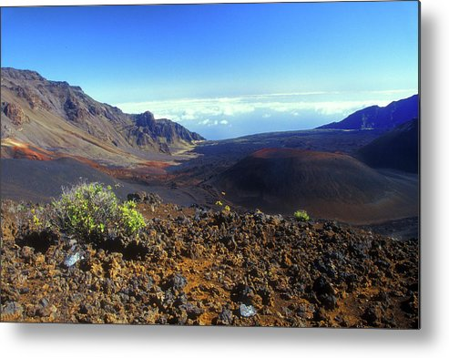 Hawaii Metal Print featuring the photograph Haleakala Volcano Crater by John Burk